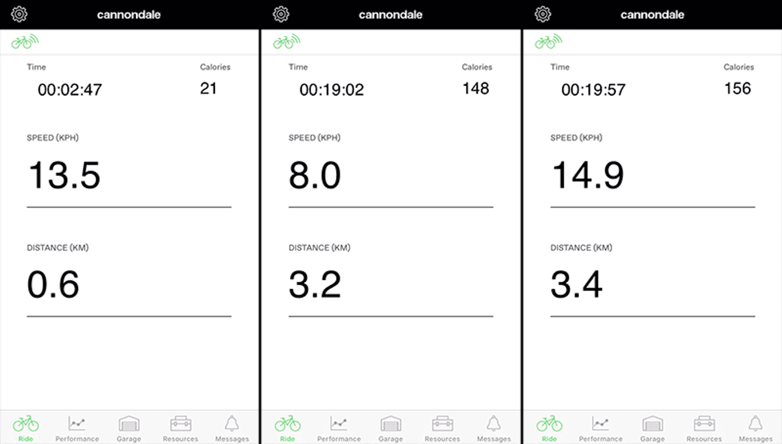 The Cannondale app can serve as a dashboard for the Treadewell EQ, providing real time info on your speed, distance, and even how many calories you've burned so far.