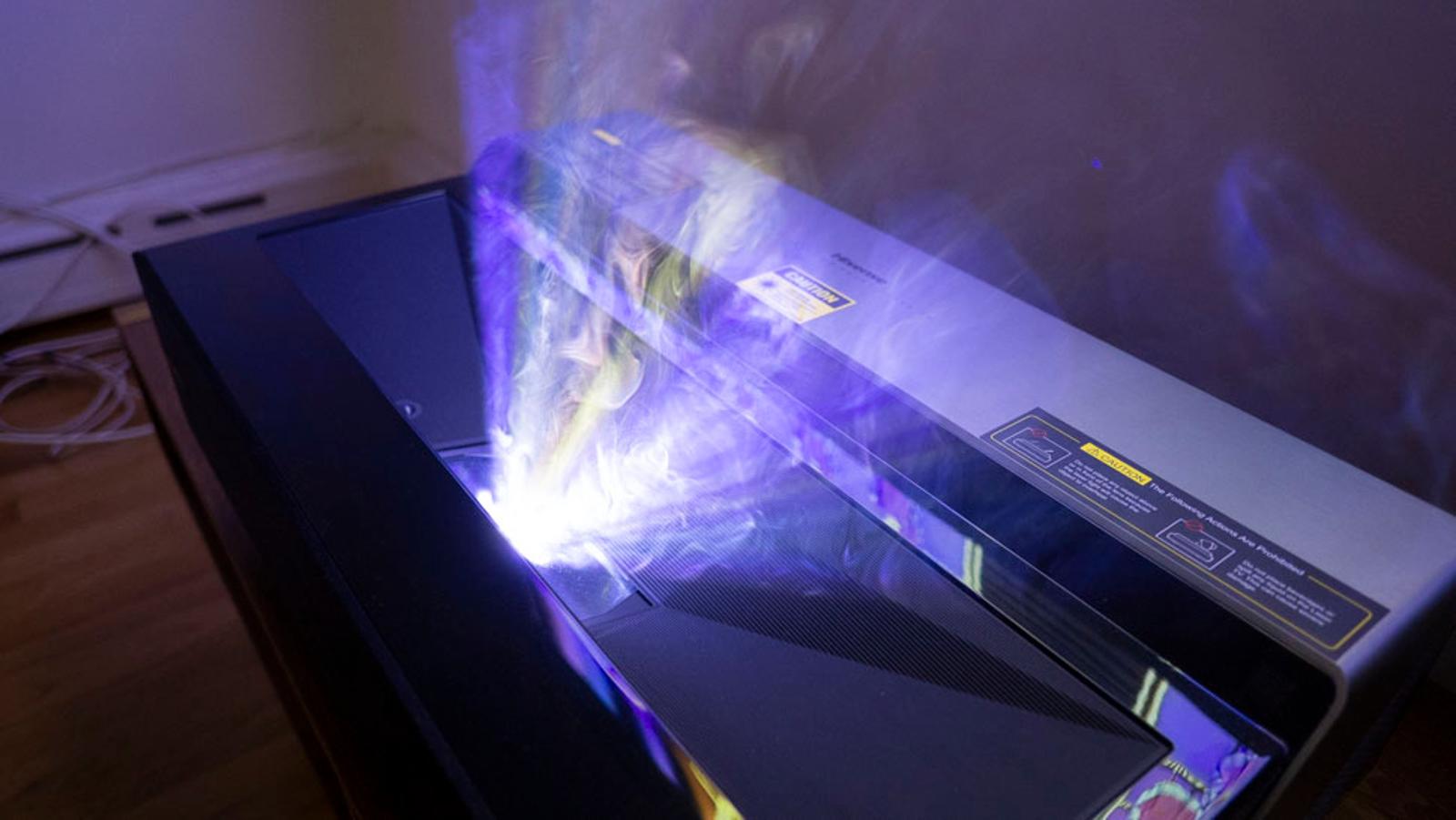 Laser beams.