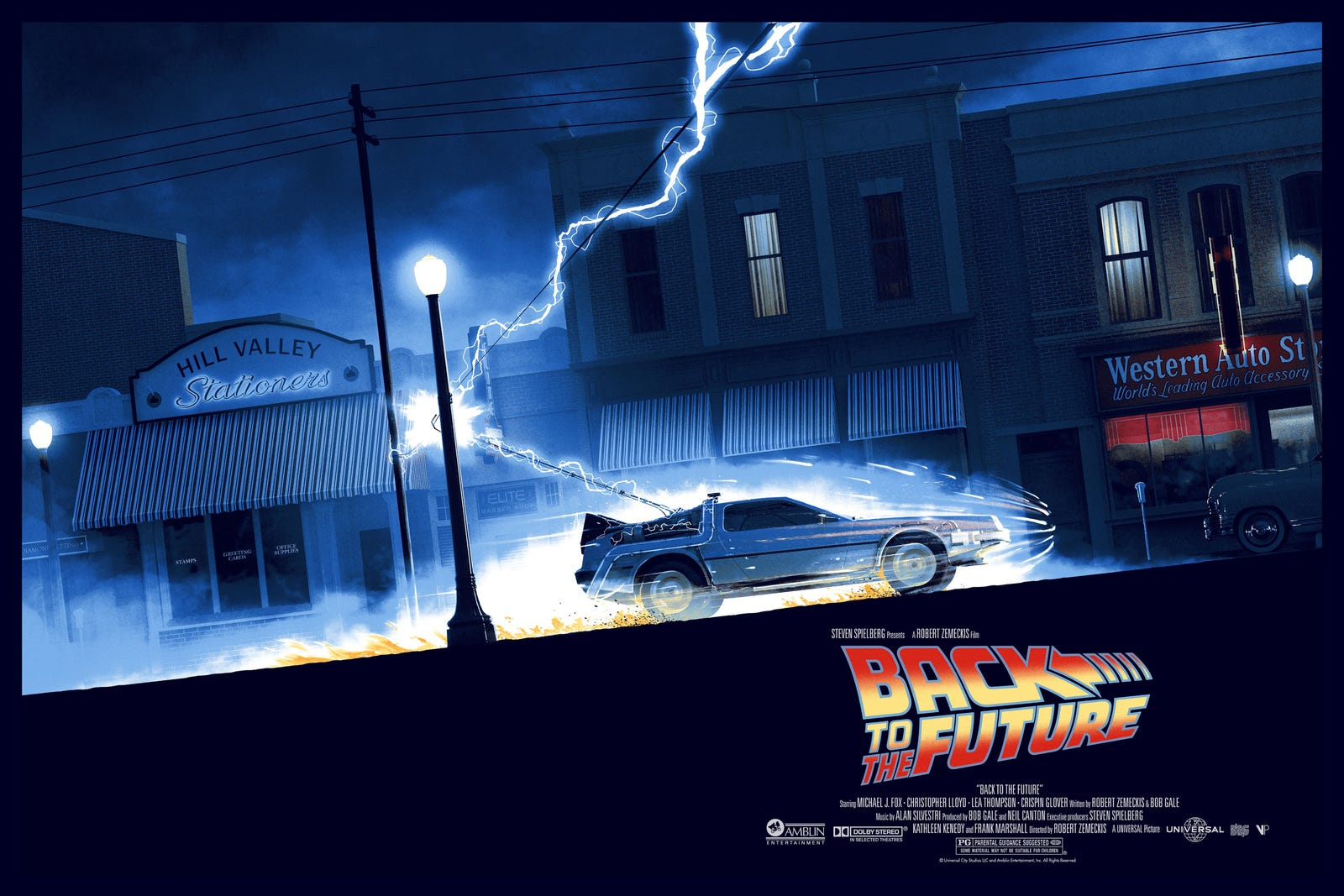 Back to the Future by Matt Ferguson. 36 x 24 inches in an edition of 175. Costs $50. Also available in a variant.