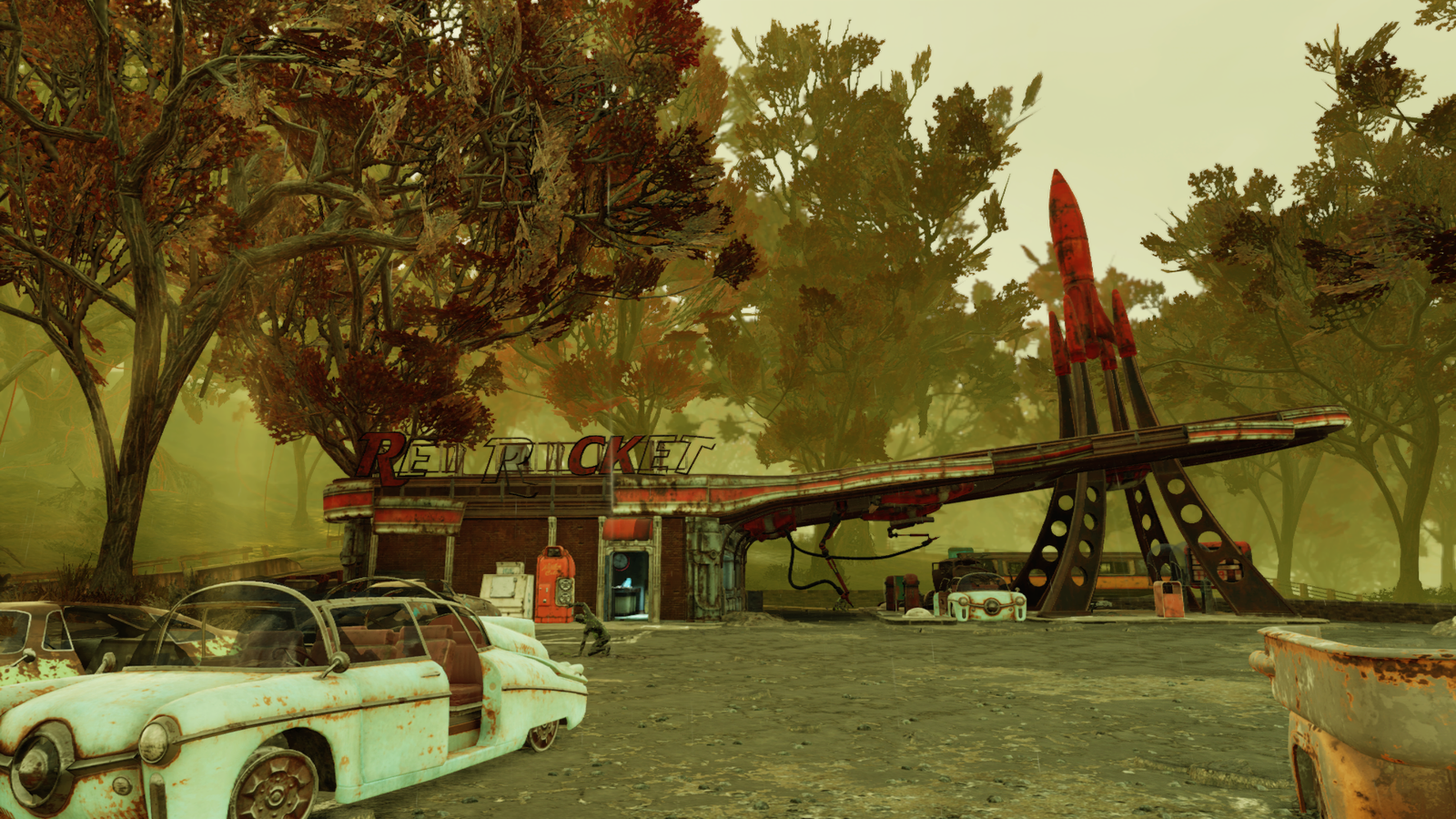 The Red Rocket diner.
