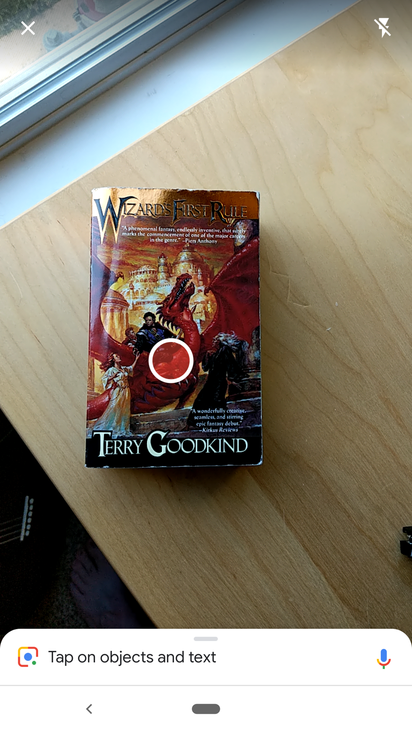 "The subject: Terry Goodkind's classic ""Wizard's First Rule."""