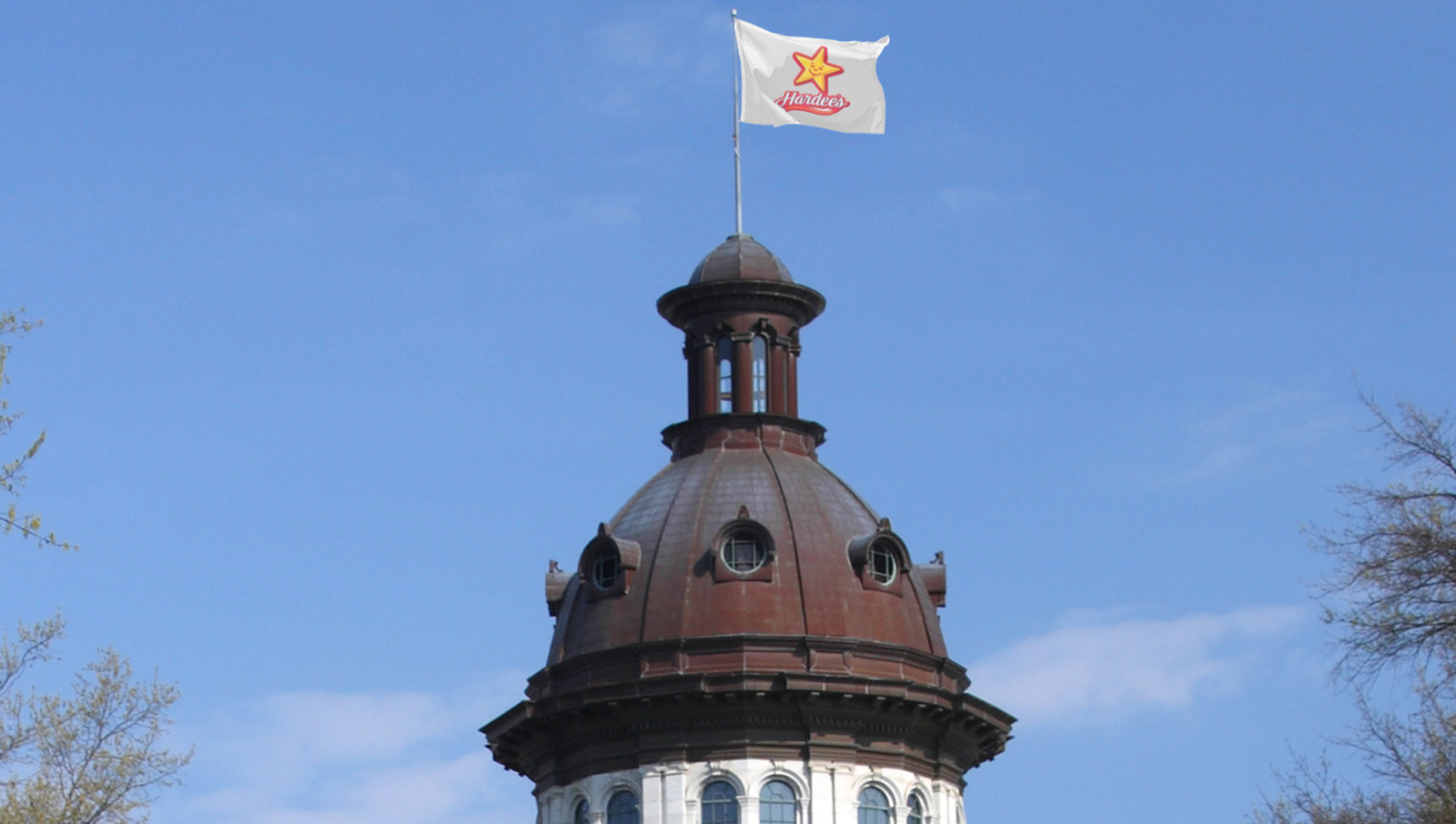South Carolina Defends Right To Fly Hardee's Flag From State Capitol