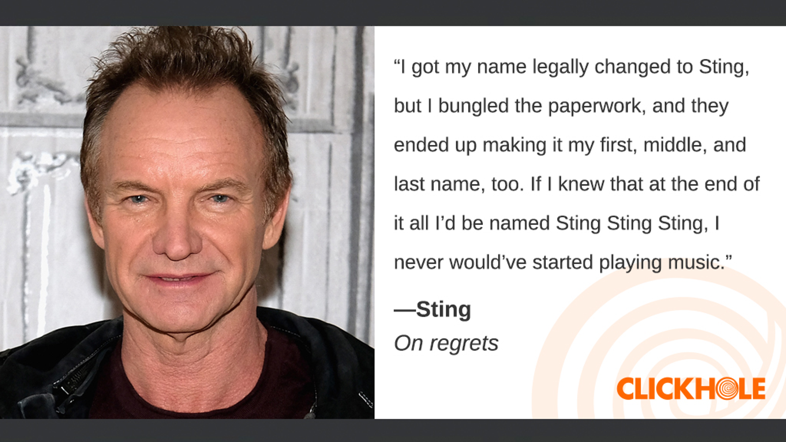 Illustration for article titled Find Out What Sting, Raven-Symoné, Laura Linney, And More Have To Say