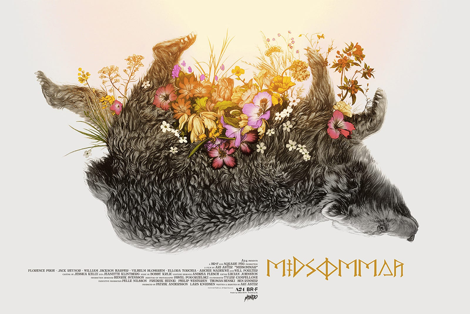 "MIDSOMMAR by Greg Ruth 36""x24"" Screenprinted Poster, Edition of 275 DL Screenprinting $50"