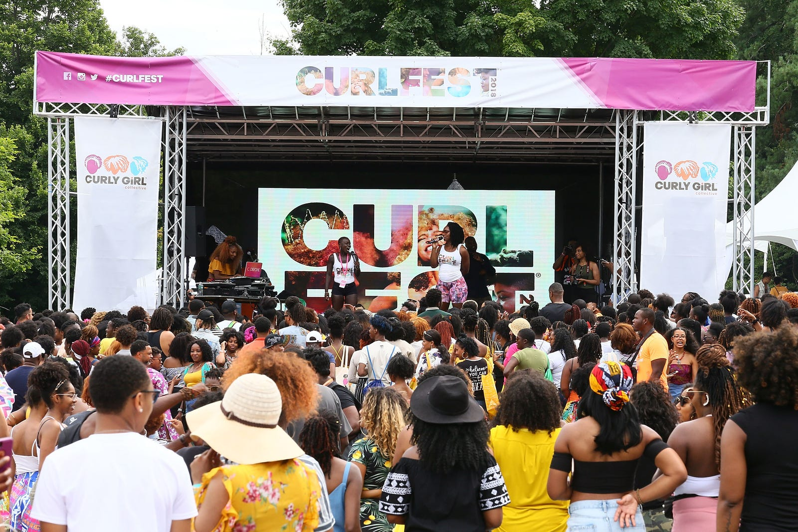 Atmosphere during Curlfest 2018 at Prospect Park on July 21, 2018 in New York City.