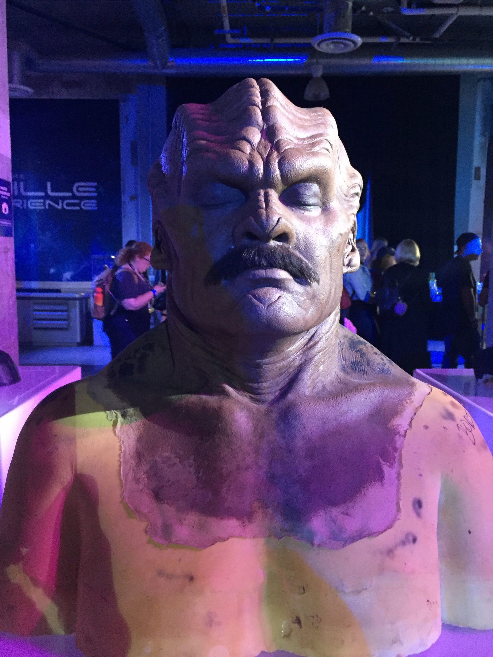 1) Behold, the Bortus make-up. More specifically, the Bortus make-up featuring that 'stache he grew for one glorious episode.