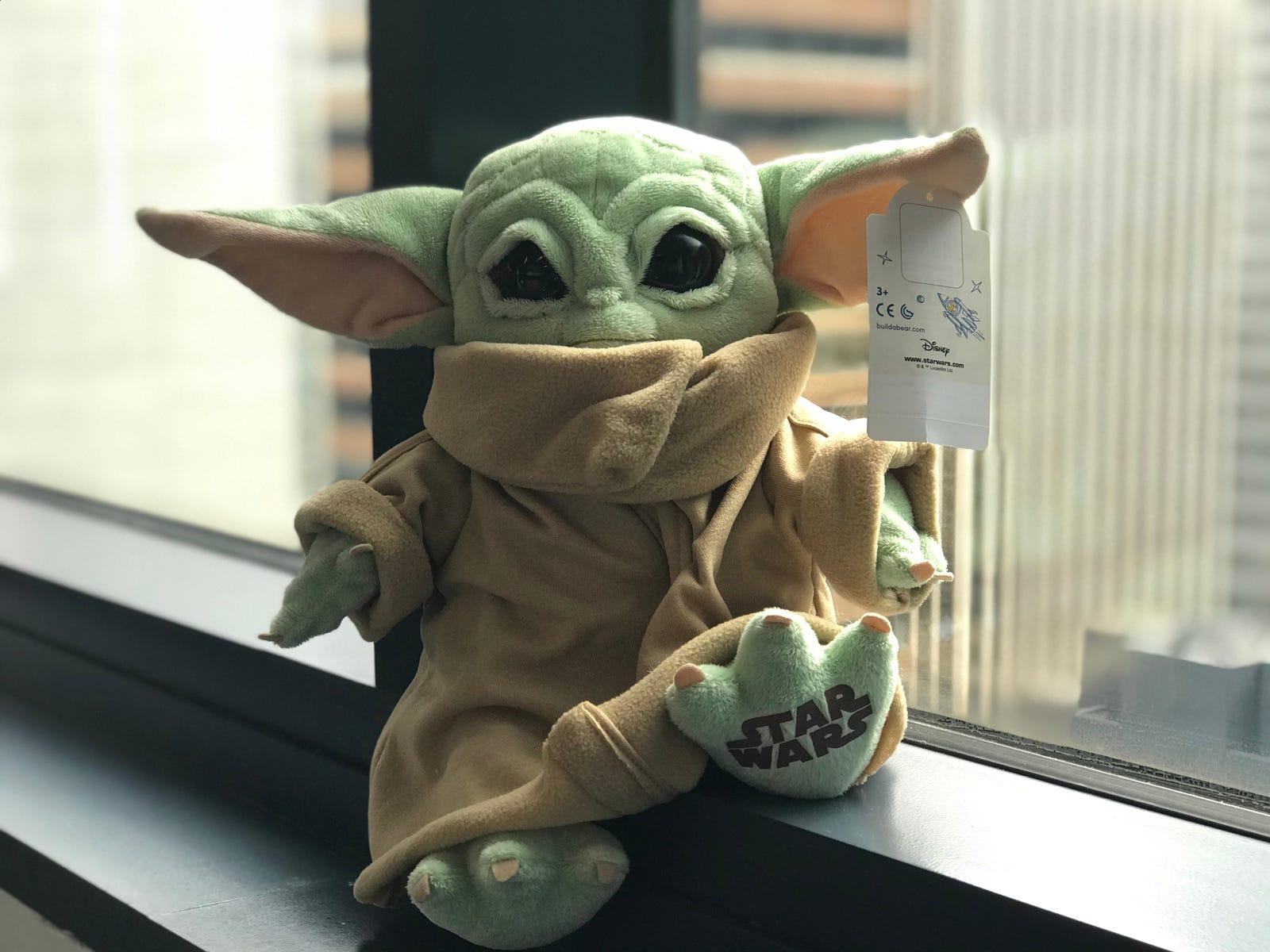 Build-A-Bear's Baby Yoda plush.