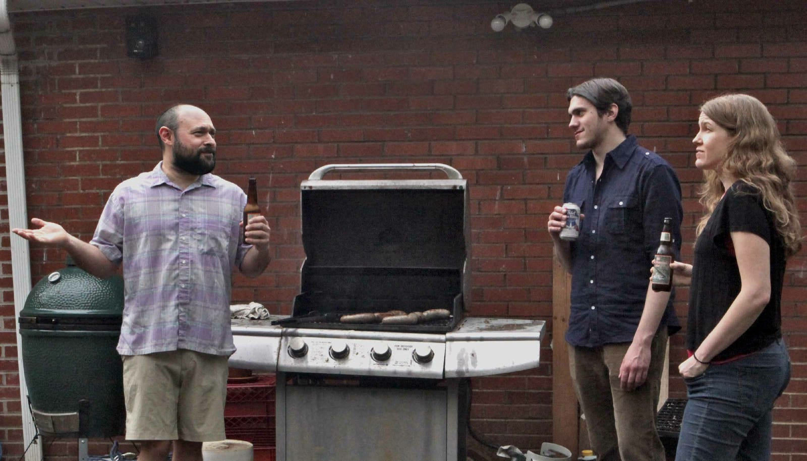 Wise Oracle Proclaims To All At Barbecue That He Felt A Raindrop