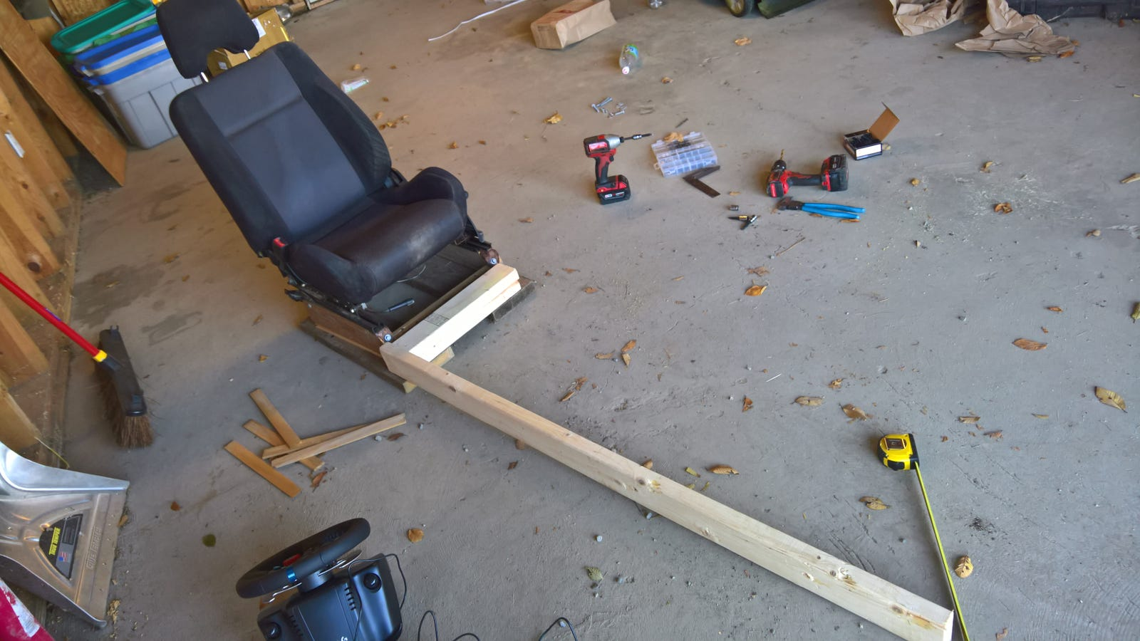 Gonna screw it down to a sub platform and then build the pedal box off that...