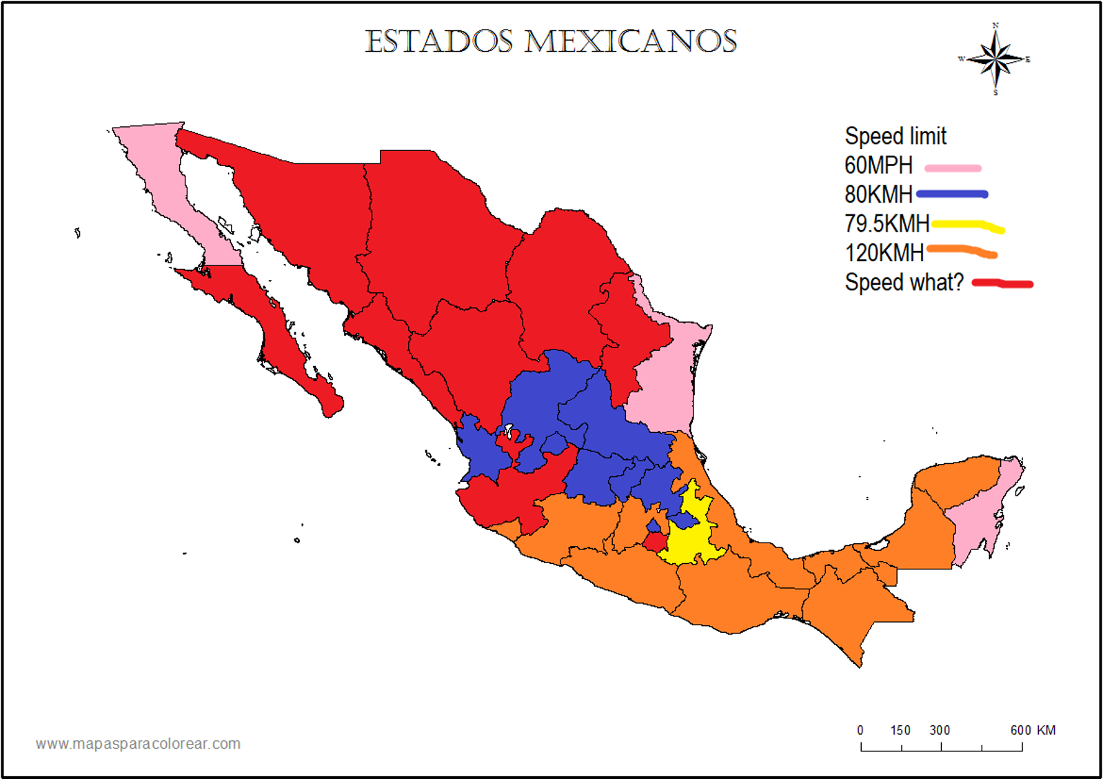 Illustration for article titled Stereotype maps of driving in Mexico