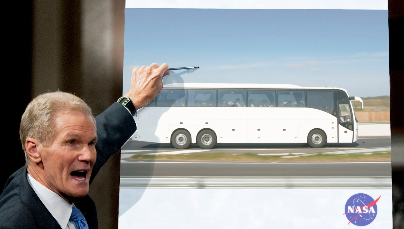 NASA Announces Plans To Put Man On Bus To Cleveland