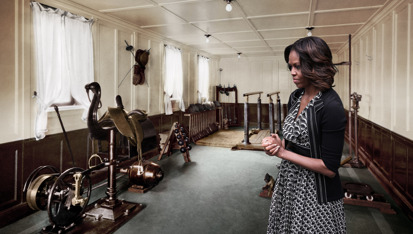 Michelle Obama Renovates Van Buren Workout Room