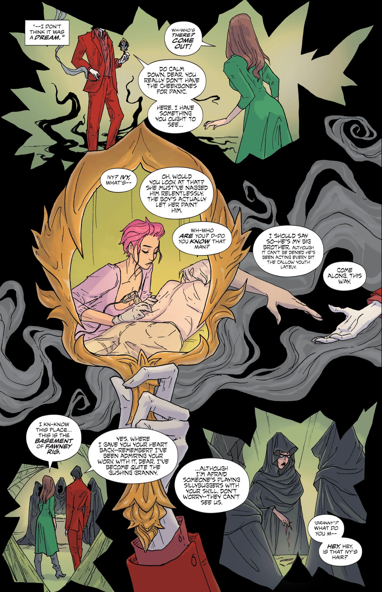 The Dreaming #8 art by Abigail Larson, Quinton Winter, and Simon Bowland