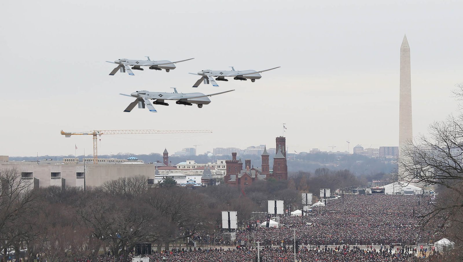 Obama Begins Inauguration Festivities With Ceremonial Drone Flyover