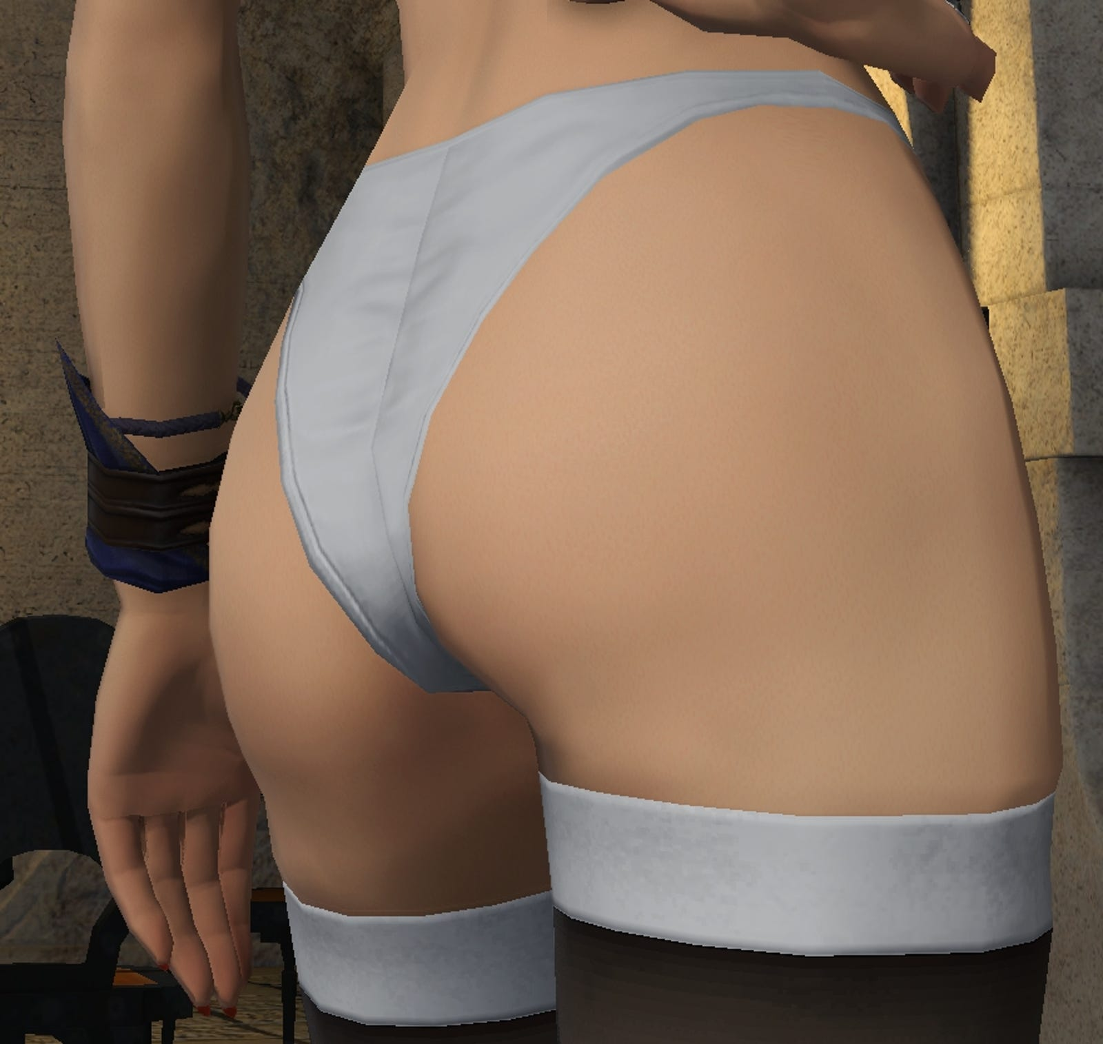 A picture of the ass.