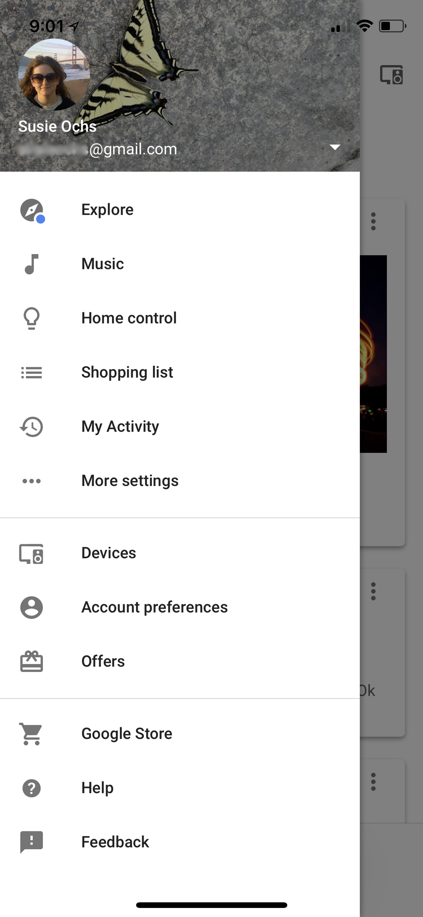 Tap the menu button, then More Settings.