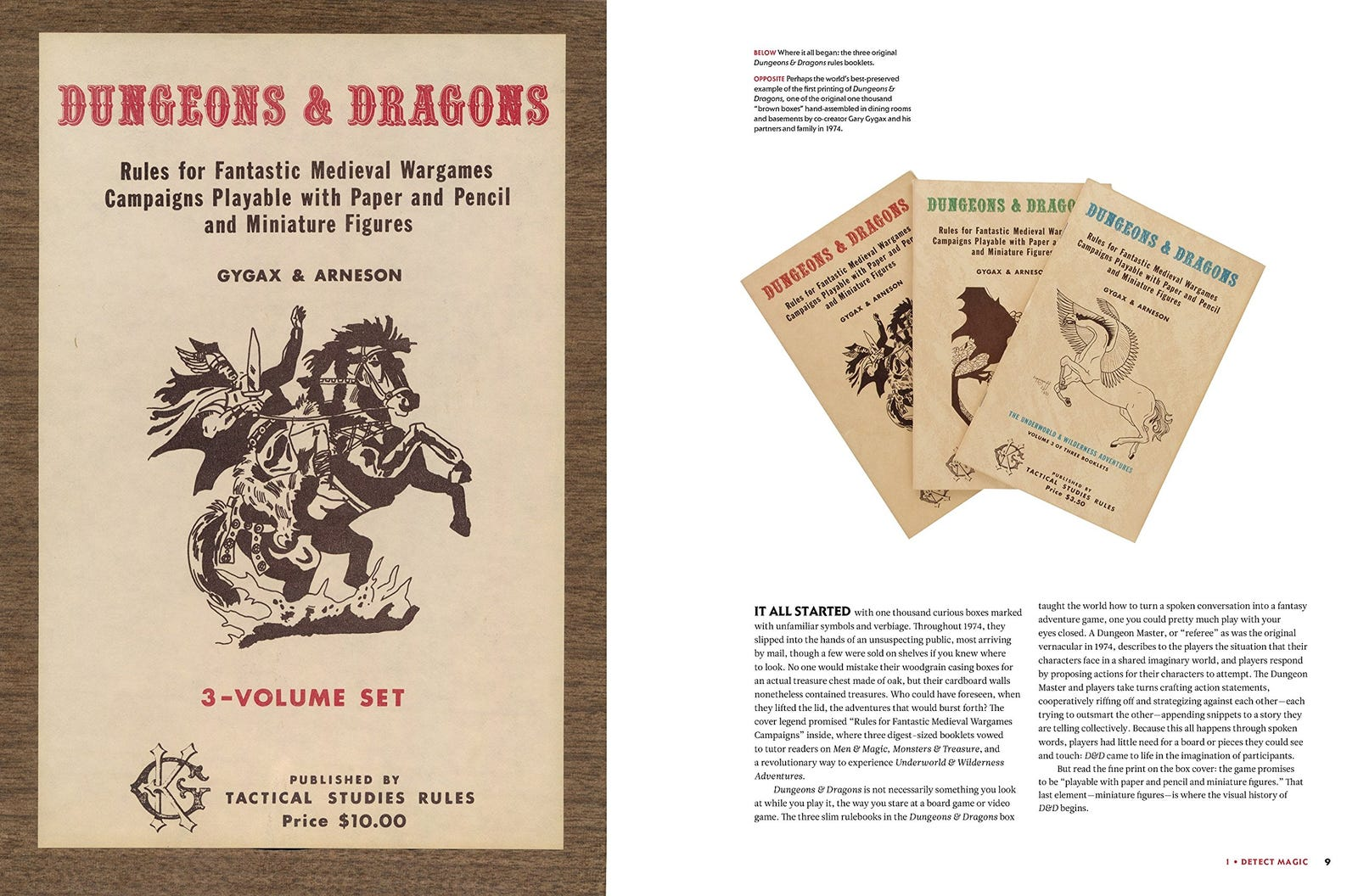Example interior pages from Dungeons & Dragons: Art & Arcana.