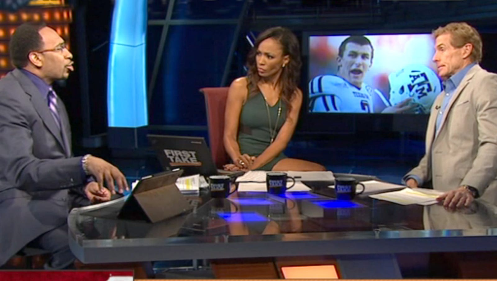 Nation Feels Fucking Awful For Woman Who Sits Between Skip Bayless, Stephen A. Smith