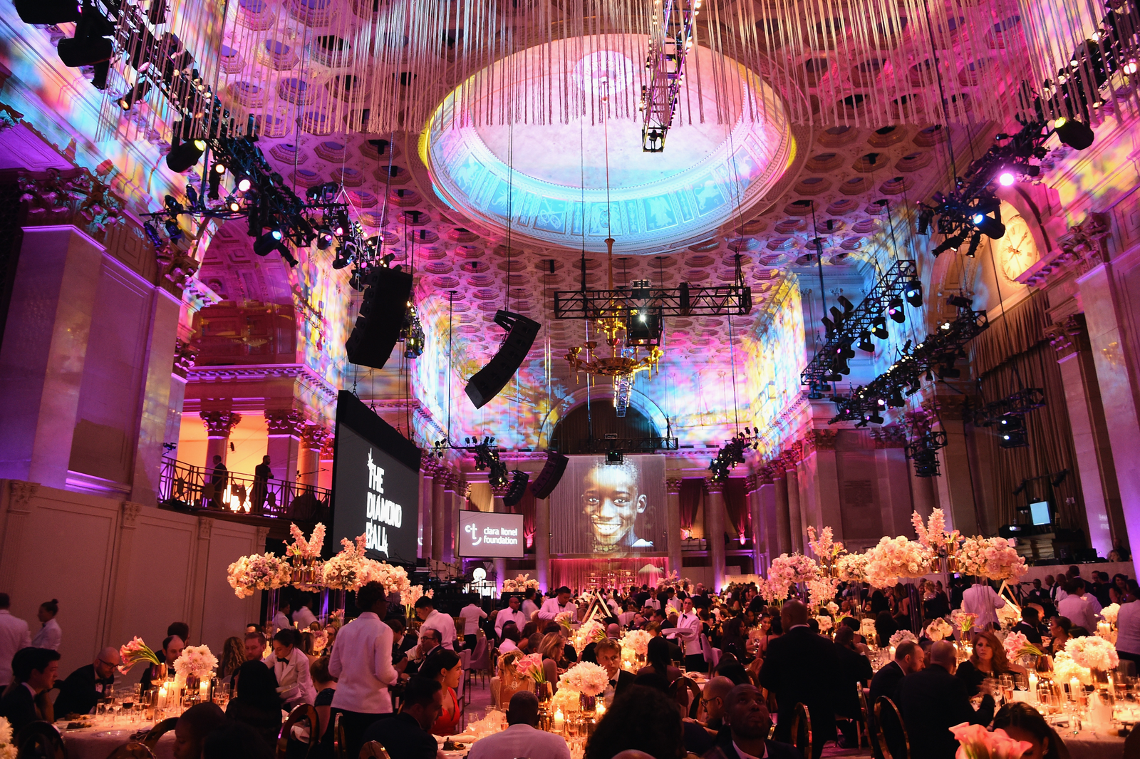 A view of the interior during Rihanna's 4th Annual Diamond Ball benefitting The Clara Lionel Foundation at Cipriani Wall Street on September 13, 2018 in New York City.