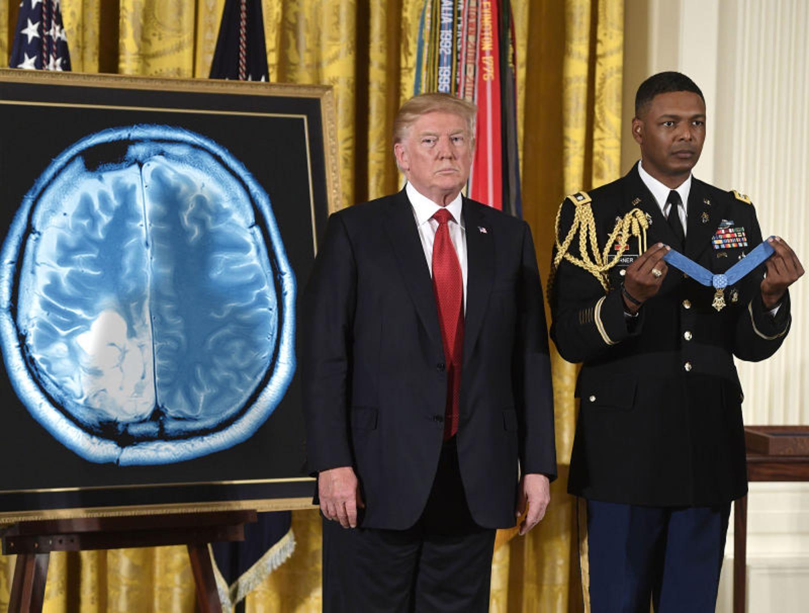 Trump Bestows Medal Of Honor On John McCain's Tumor