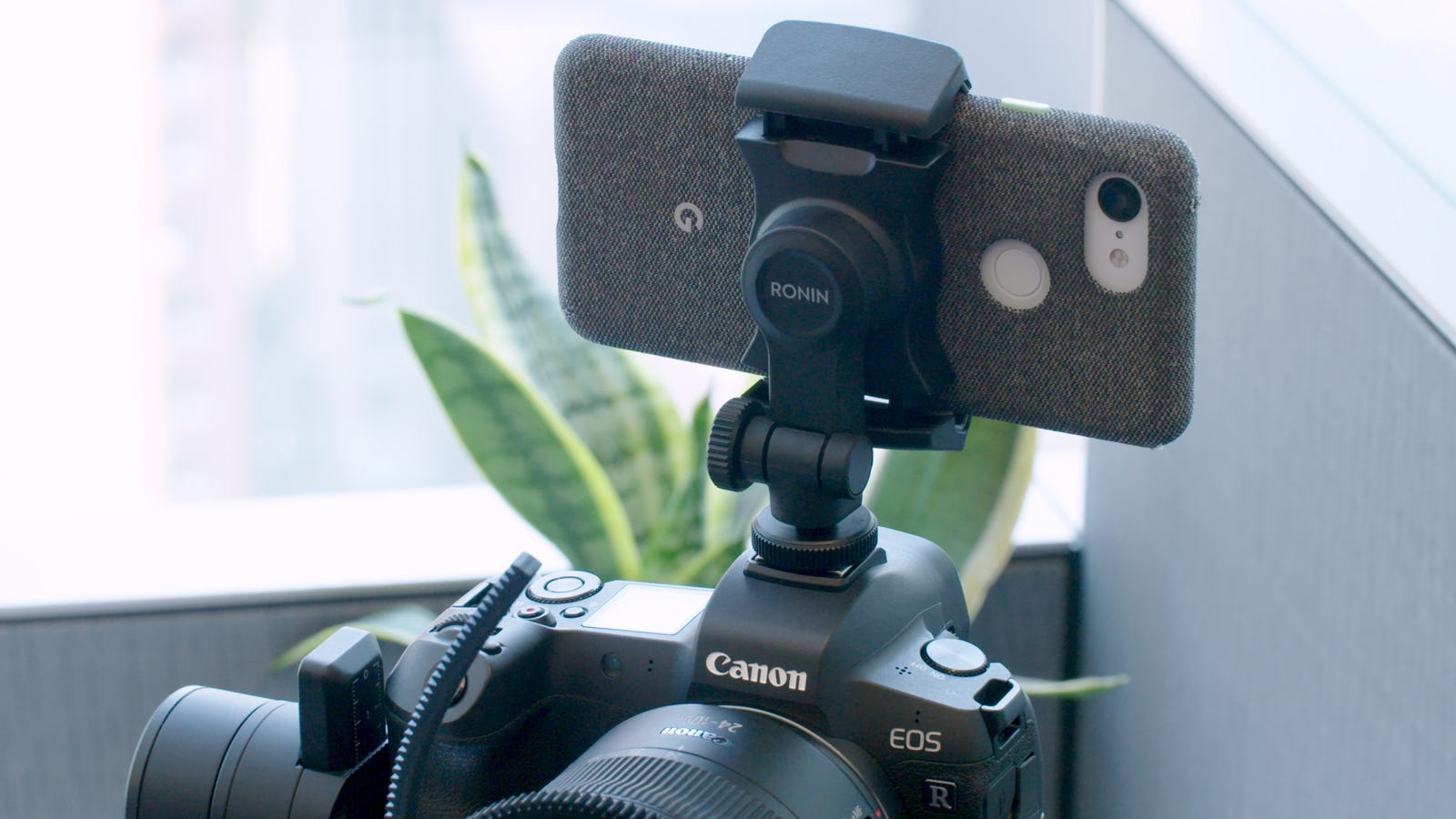 The Ronin-SC includes a phone mount, and the gimbal gains more features through an app.