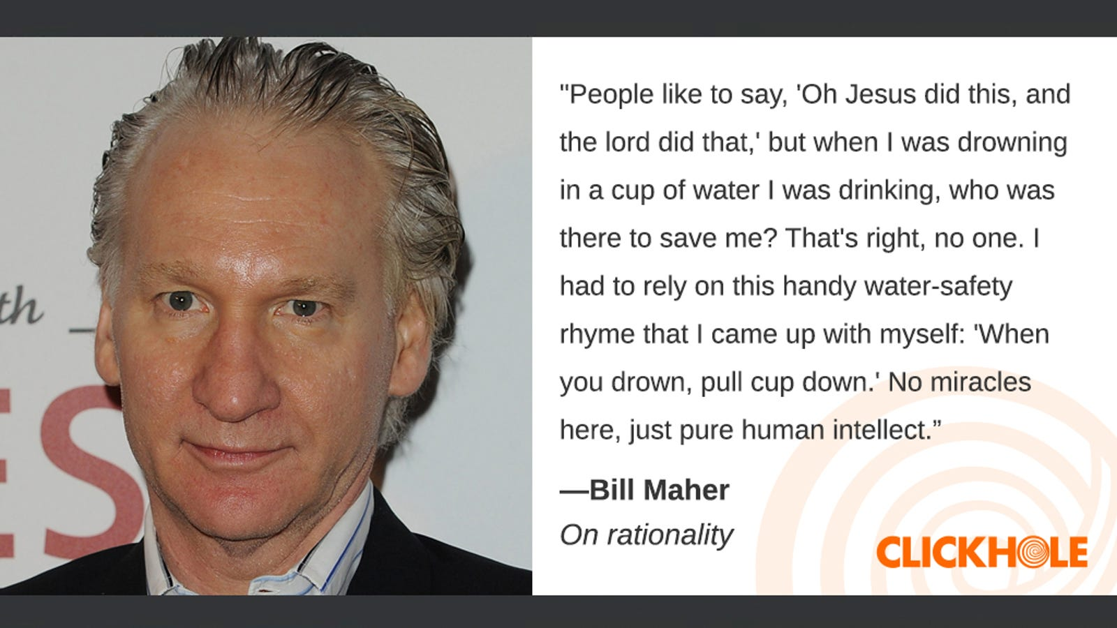 Illustration for article titled Find Out What Bill Maher, Forest Whitaker, Tom Hardy, And More Have To Say