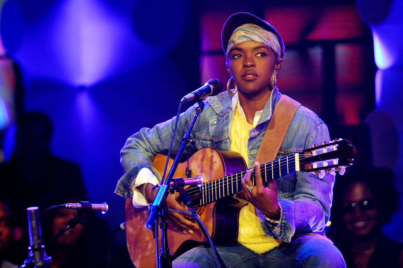 Lauryn Hill performing on 'MTV Unplugged' at the MTV Studios in New York City, 7/21/01.