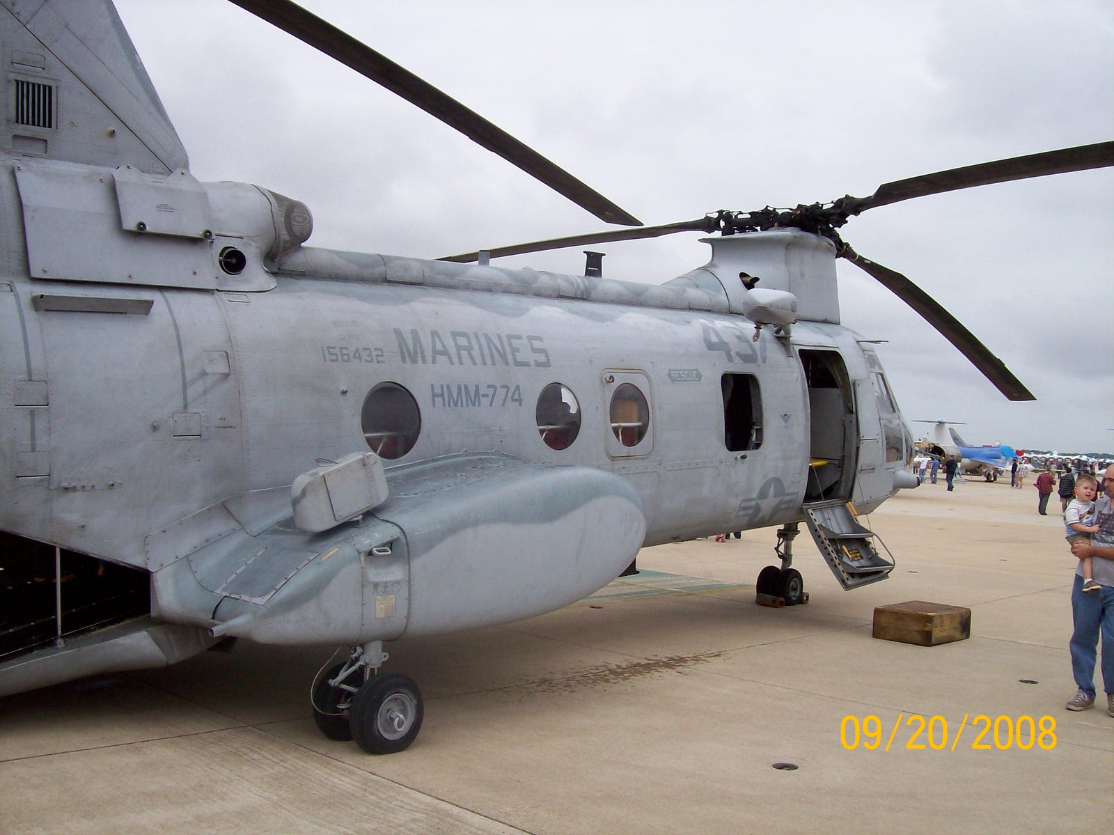 A Ch-46 Sea Knight,more commonly called the Phrog, flew with Hmm-774 from 1970 through to 2016