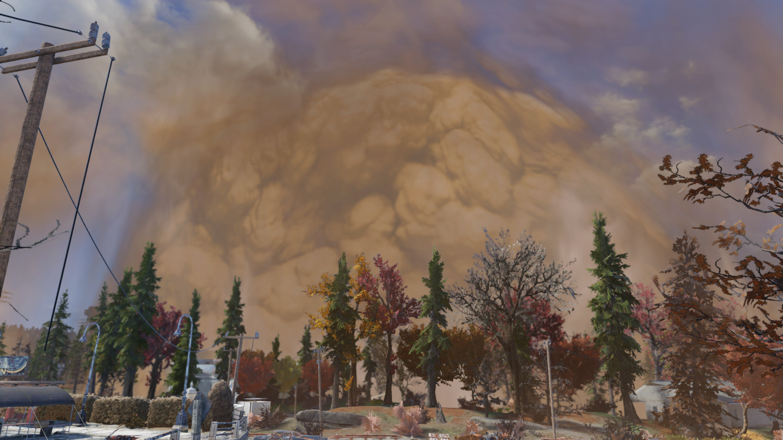 A nuclear explosion at the Whitespring Resort.