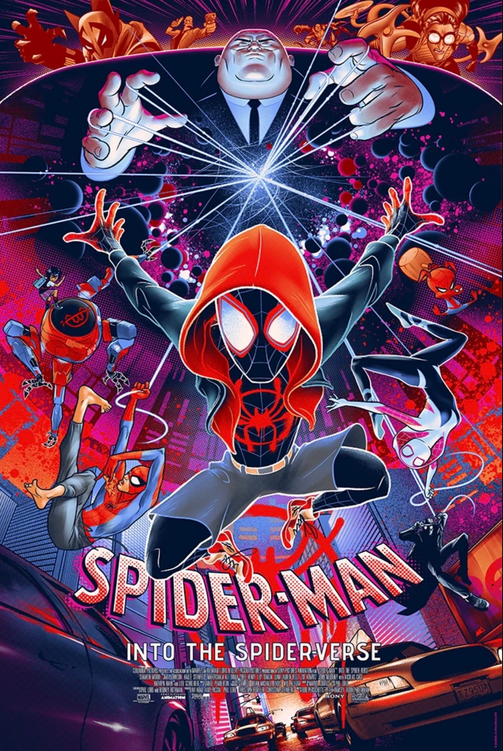 There was so, so much amazing Spider-Verse art this year. Here are three of the best. First, by Martin Ansin from Mondo.