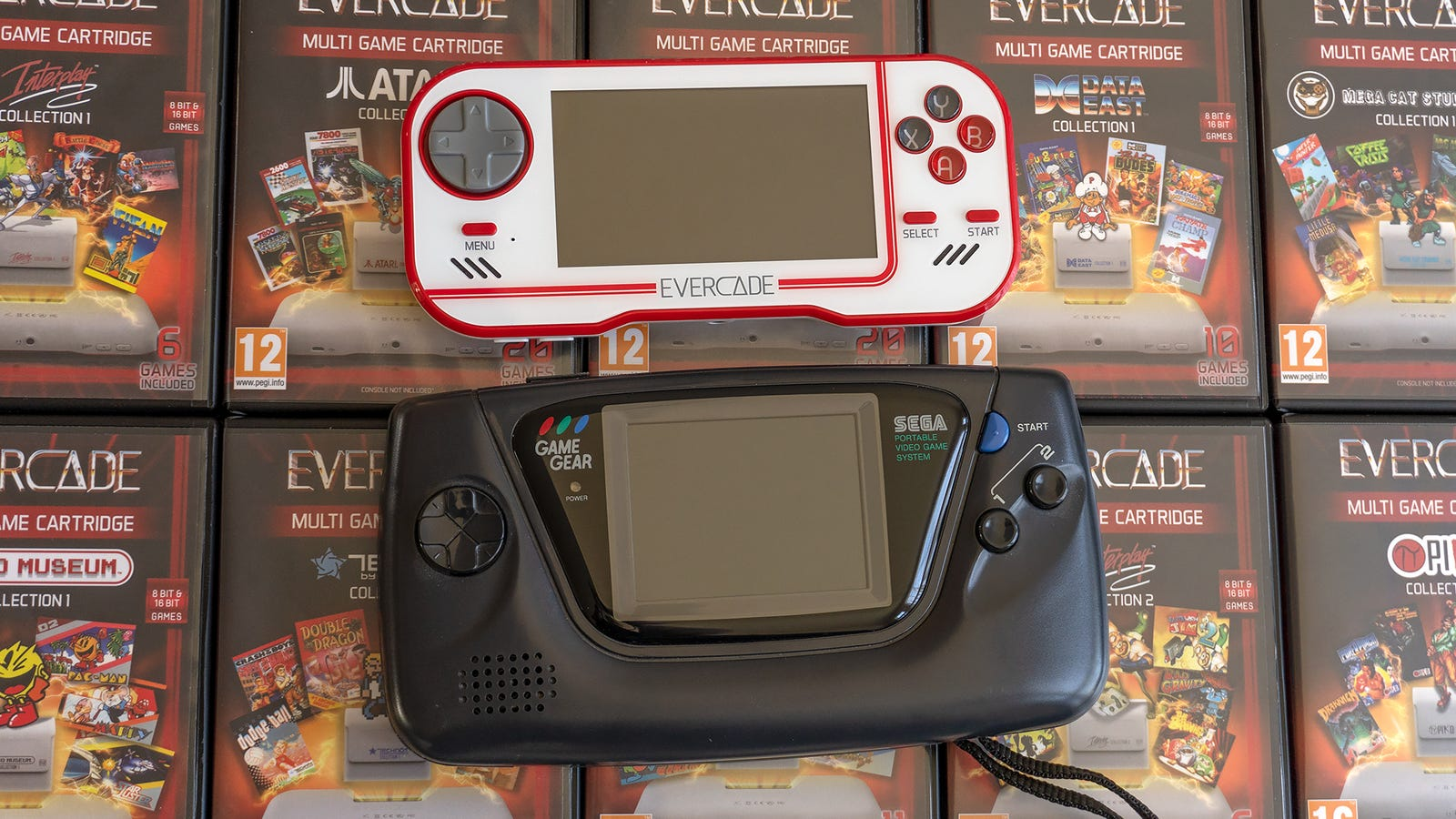 It's not quite as large as the Sega Game Gear, but the Evercade is a beefy handheld.