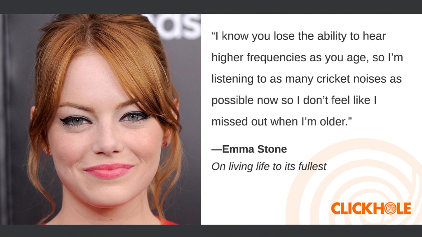 Illustration for article titled Find Out What Emma Stone, em/emJim Carrey, And em/emAndrew Zimmern Have To Sayem/em
