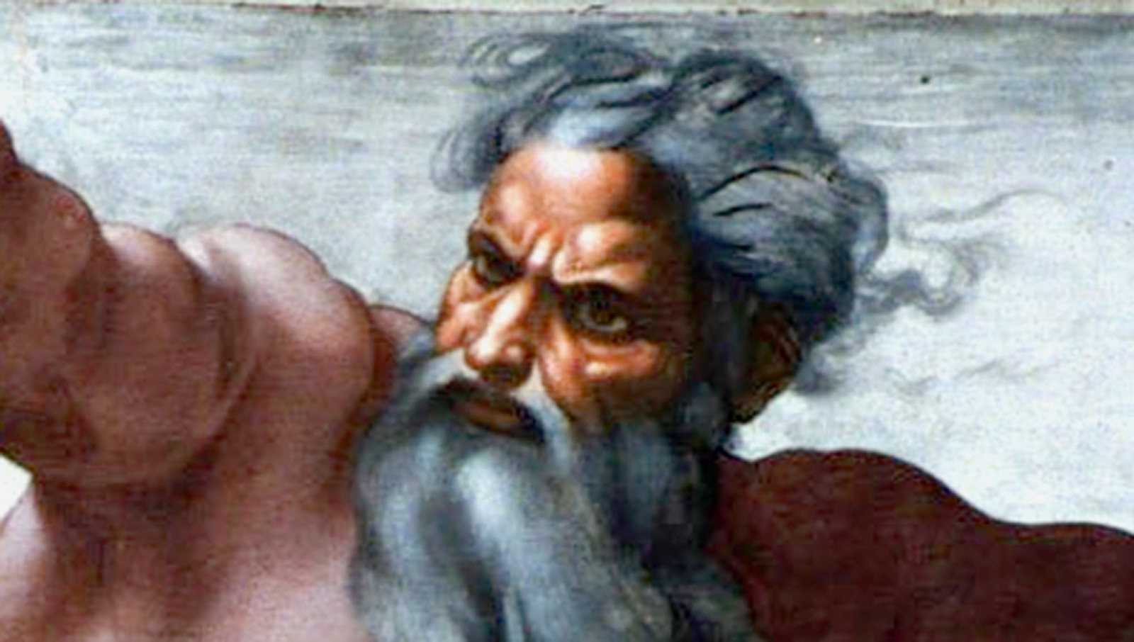 God Wondering How Far He Could Throw Earth