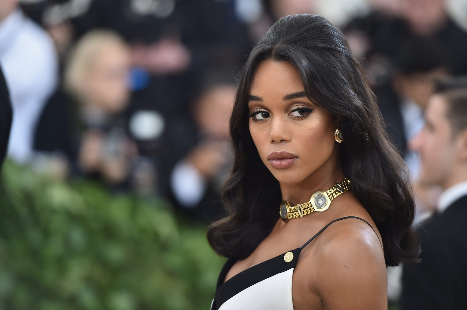 Laura Harrier attends the Heavenly Bodies: Fashion & The Catholic Imagination Costume Institute Gala at The Metropolitan Museum of Art on May 7, 2018 in New York City.