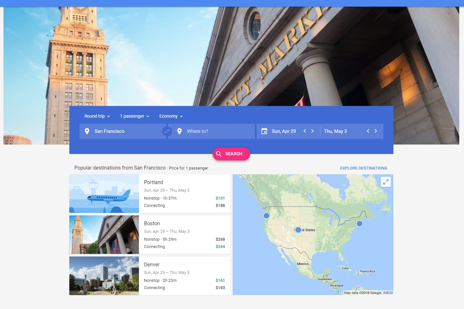 Google Flights (new hotness)