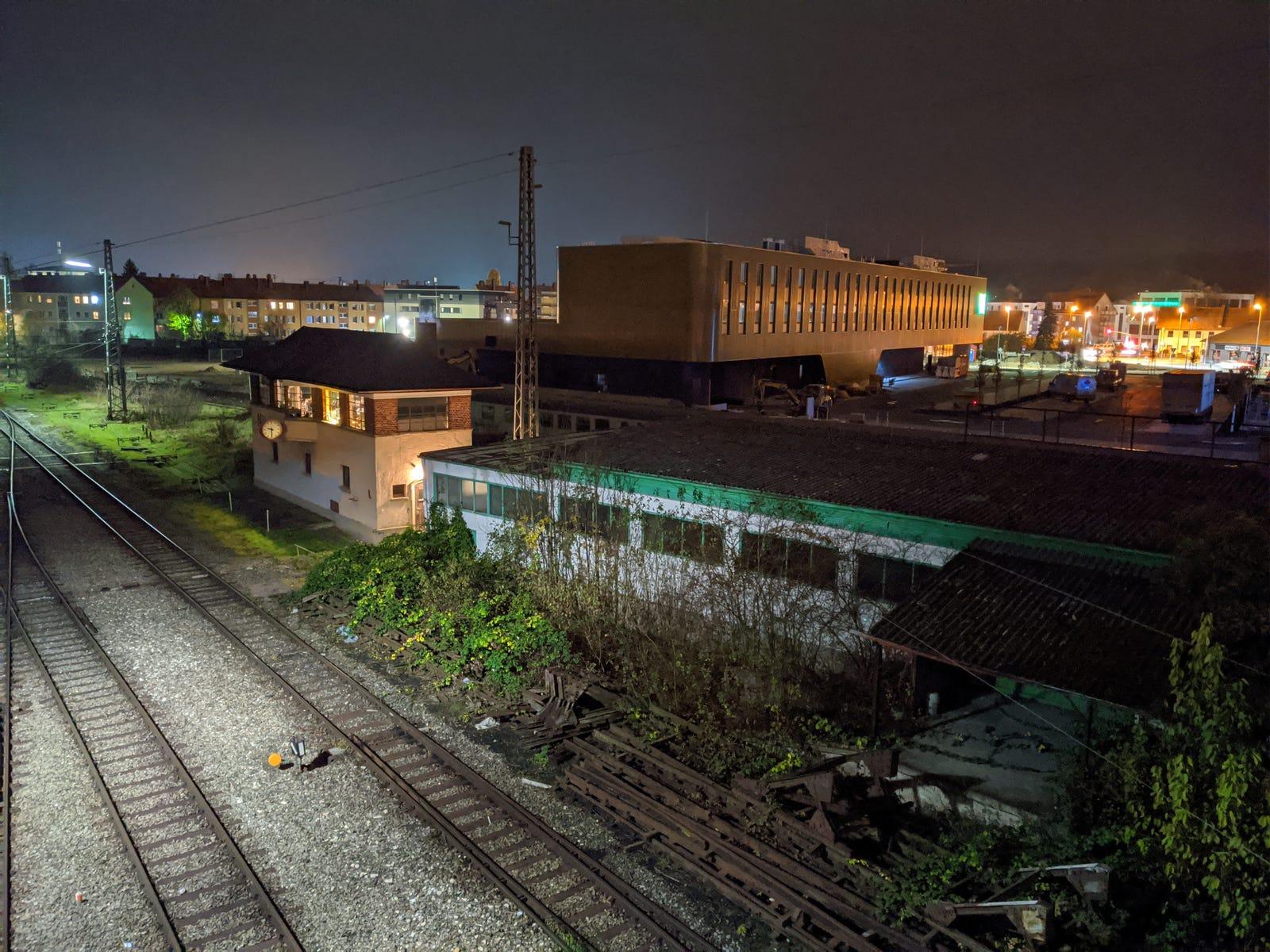 Un ejemplo del modo nocturno con trípode.