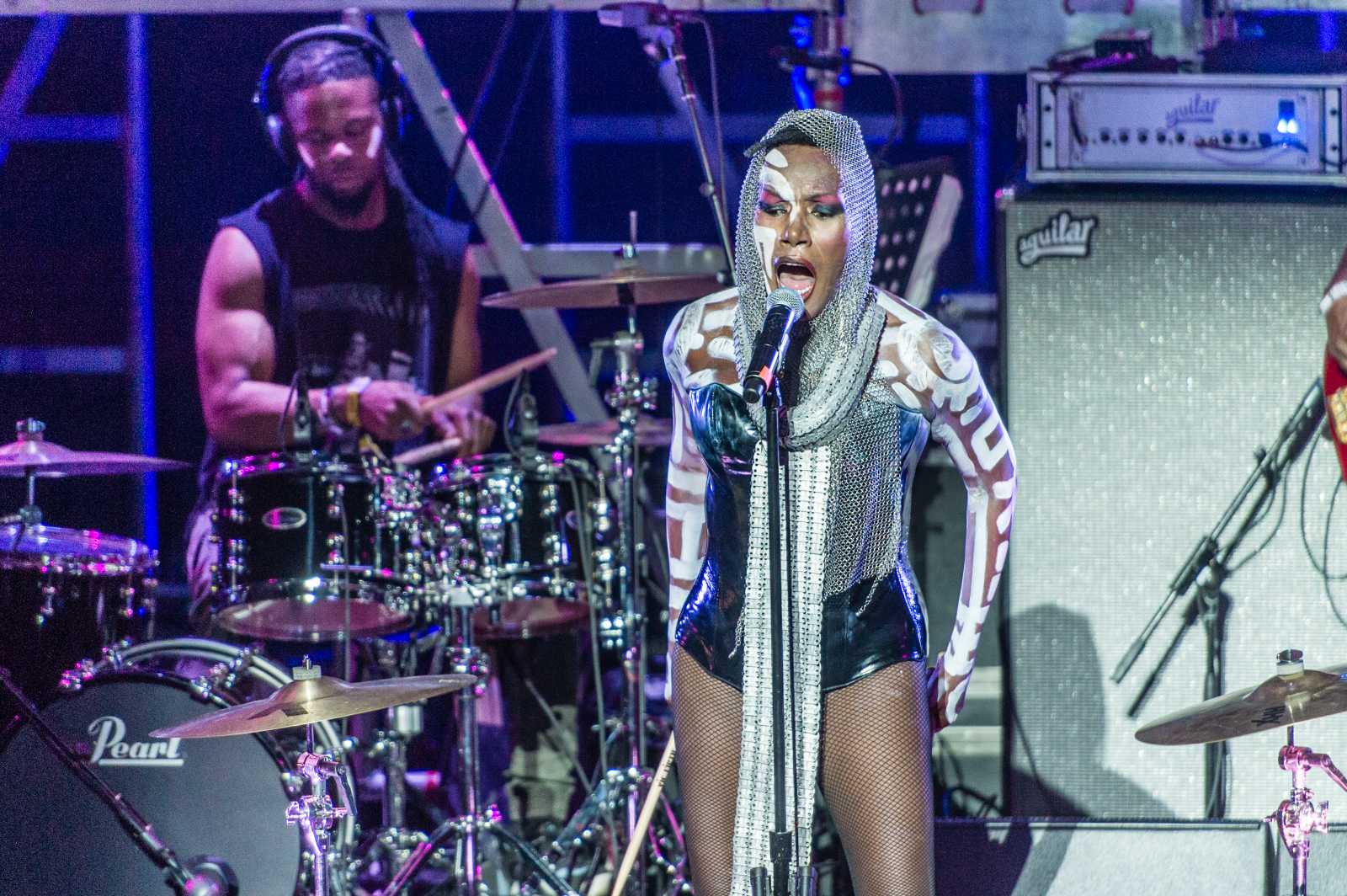 Grace Jones performs during WorldPride NYC 2019 on Pride Island on June 29, 2019 in New York City.