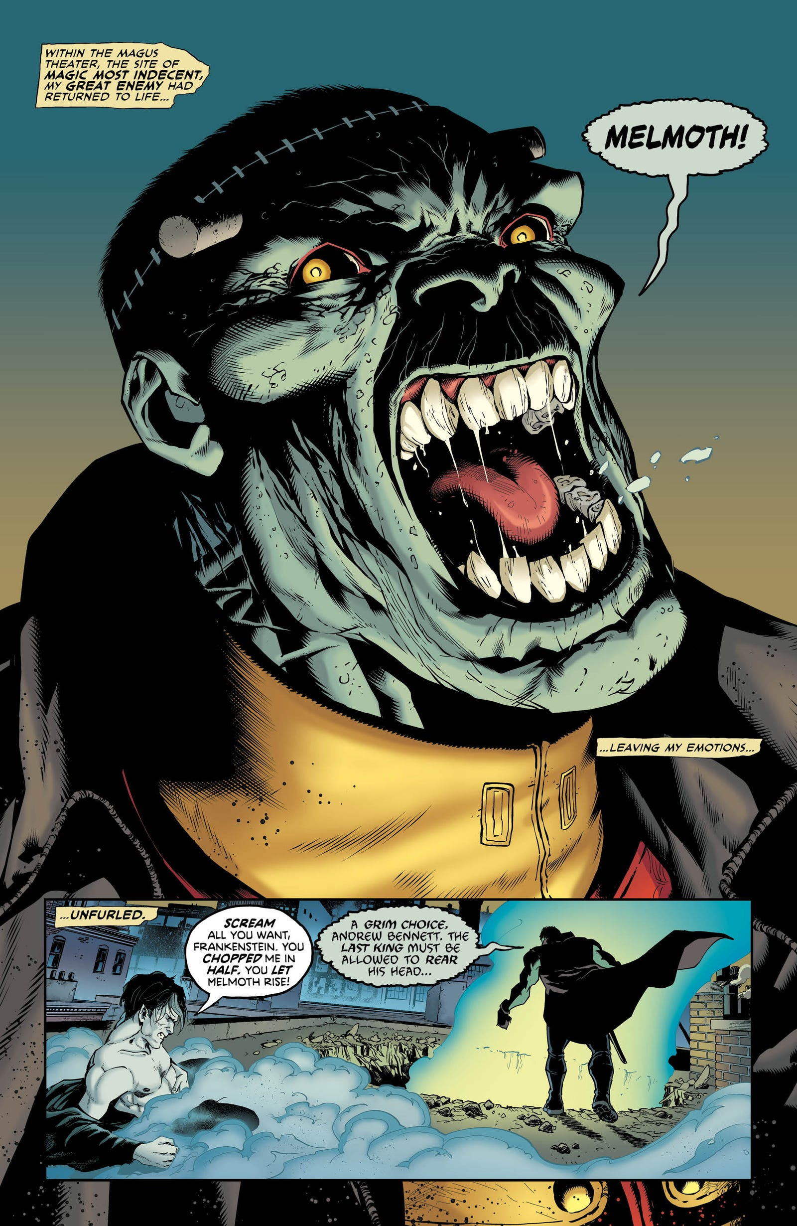 Illustration for article titled A demonic new hero breaks free in this emGotham City Monsters/em #2 exclusive
