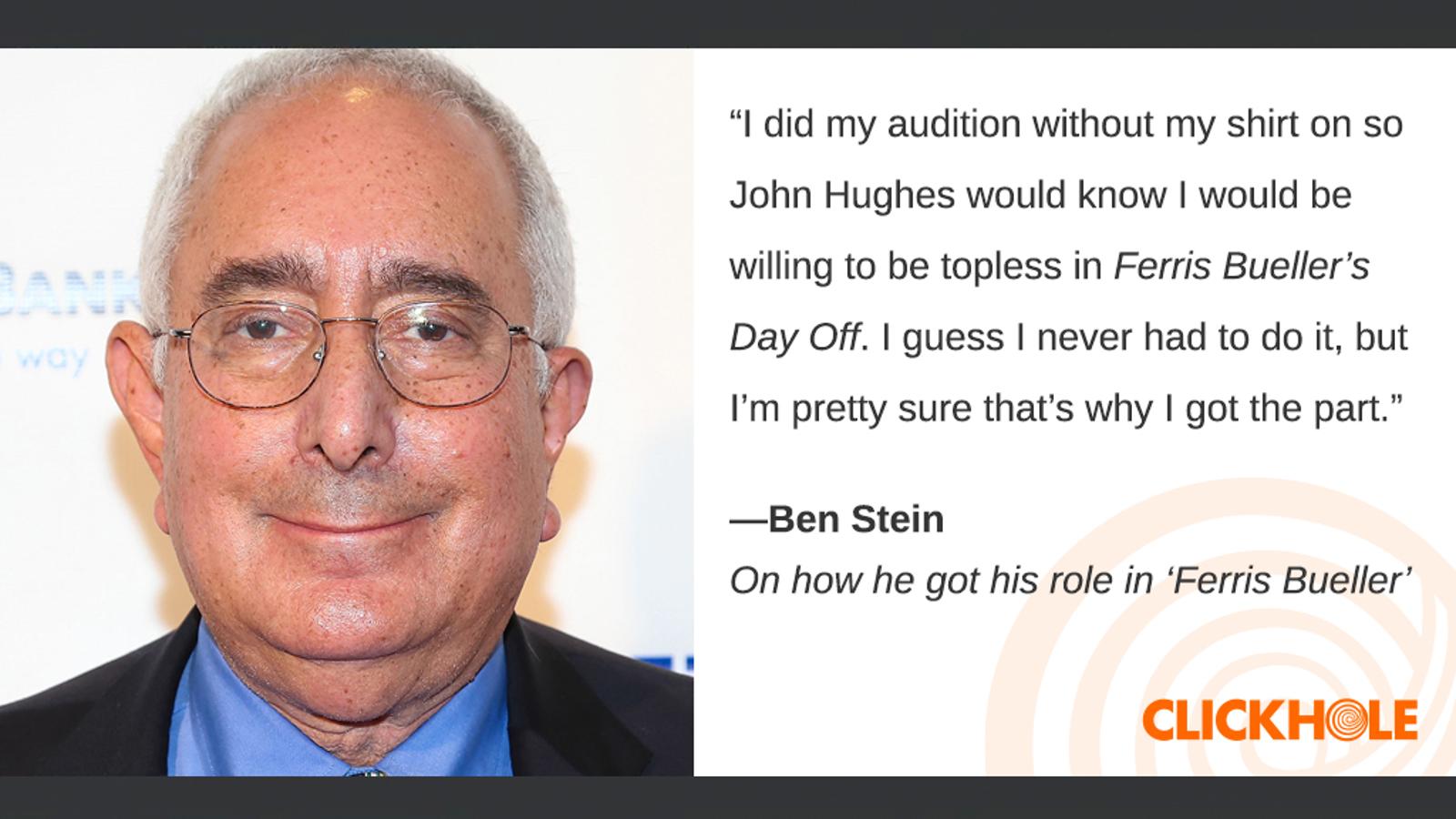 Illustration for article titled Find Out What Ben Stein, em/emVince Gilligan, And em/emHillary Clinton Have To Sayem/em