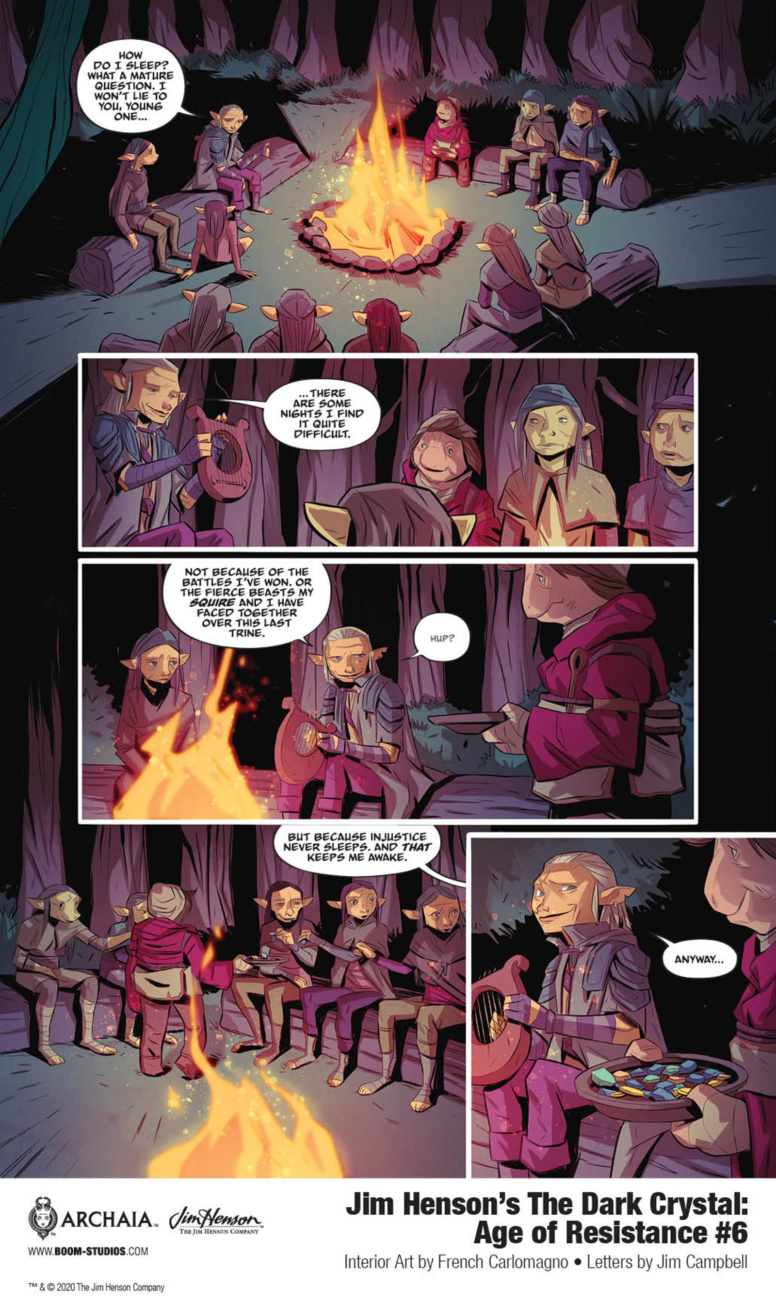 Barfinnious and Hup continue their travels in this Dark Crystal: Age of Resistance #6 preview.