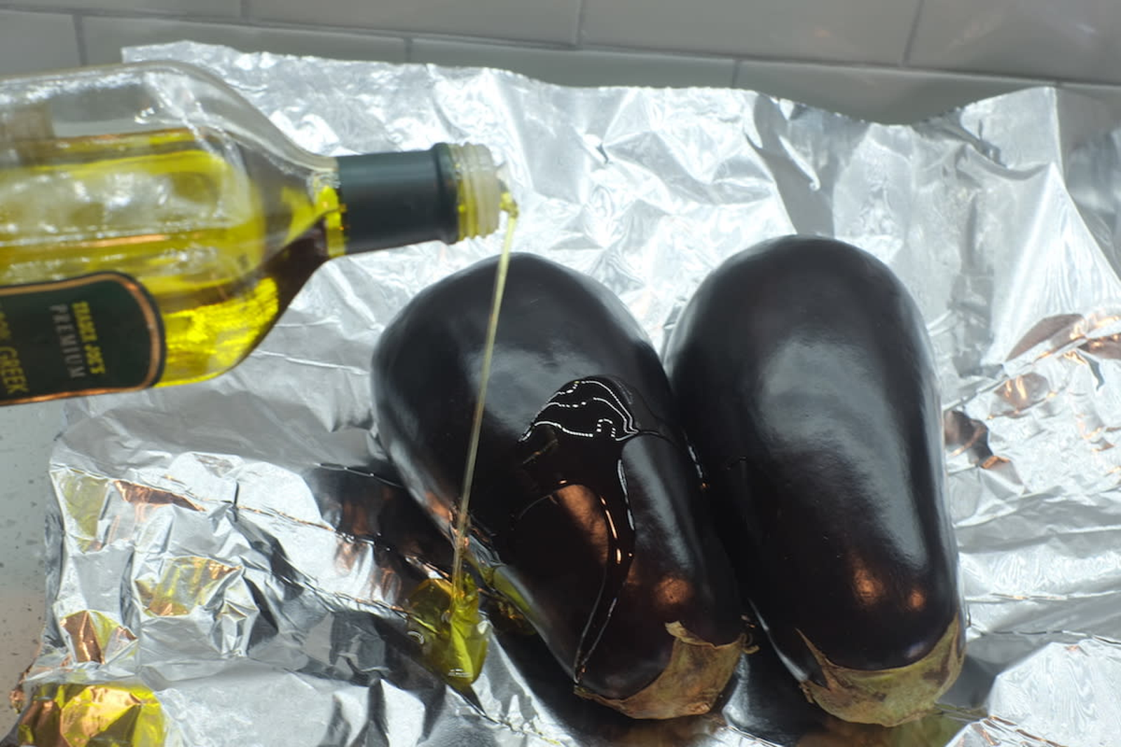 Look for eggplants that are smooth and firm. This means they're fresh and ripe—and therefore unlikely to be bitter once cooked.