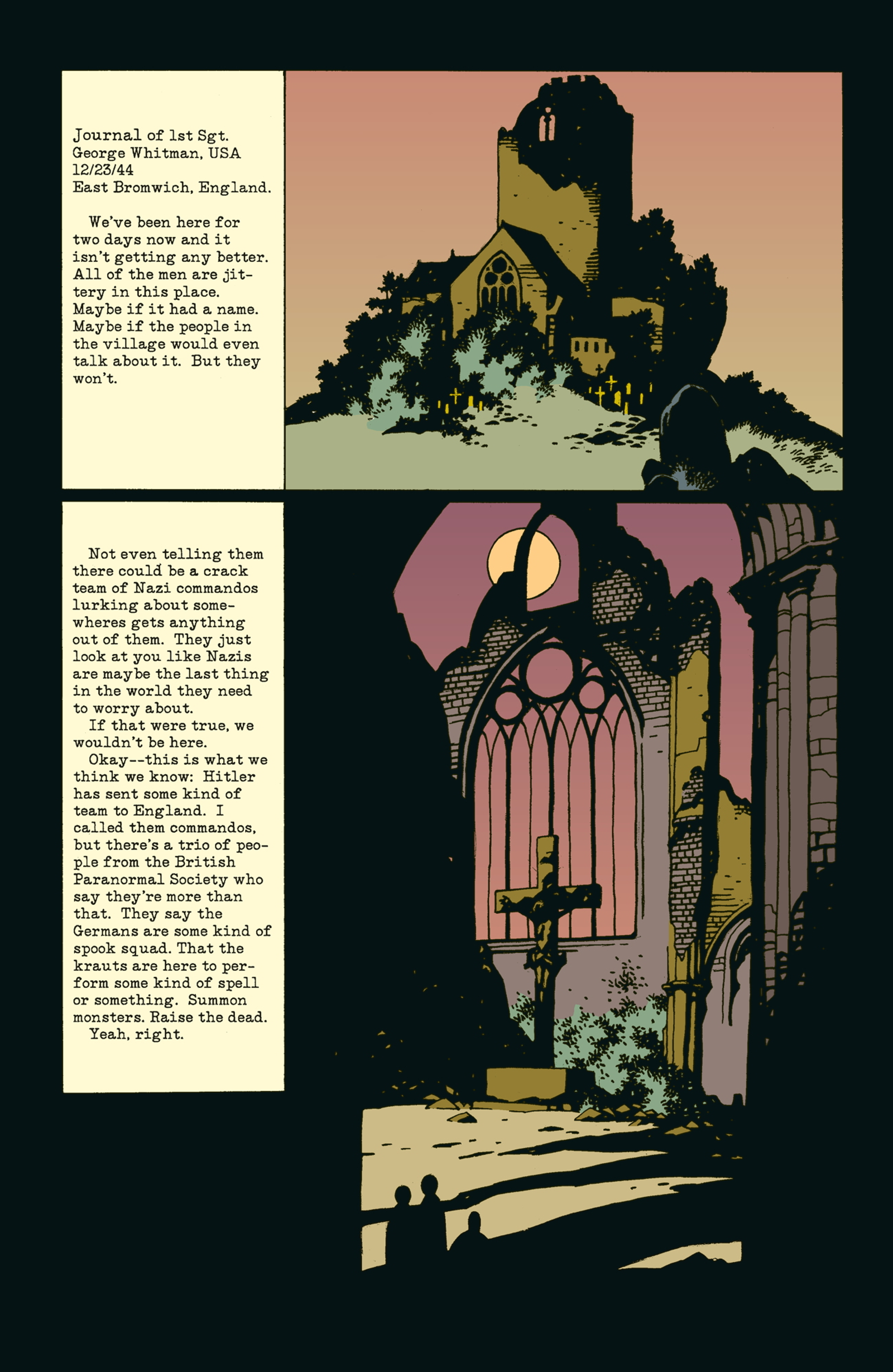 Witness the ritual that gives life to Hellboy in this sample from Seed of Destruction #1.