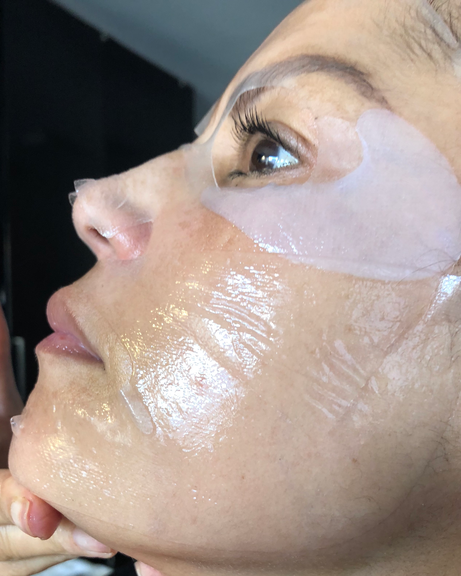 Layering sheet masks for maximum effect: See our slide show for DIY spa-night supplies. (P.S.: I look scary now, but it gets pretty later. I promise.)
