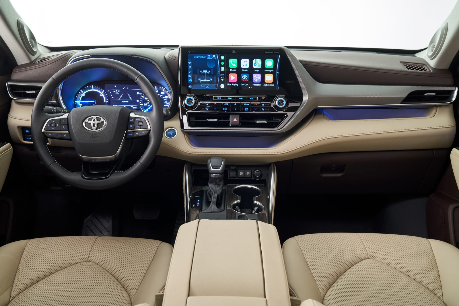 Illustration for article titled The 2020 Toyota Highlander Hybrid Gets 34 MPG And A Big New Touchscreen