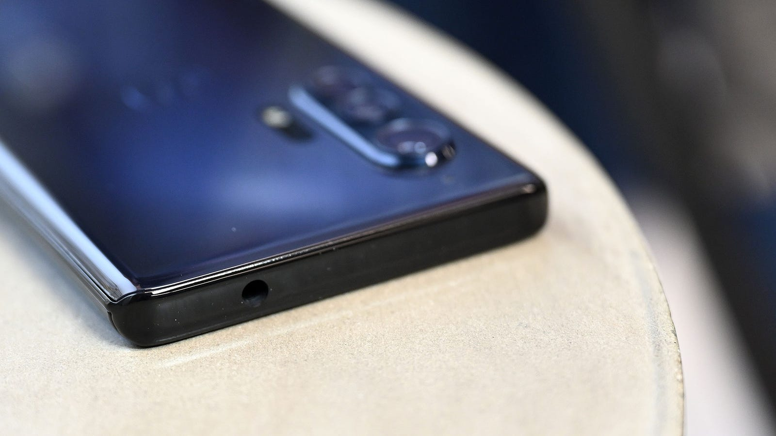 While other smartphone makers continue to ditch the headphone jack, Motorola is keeping the 3.5mm port alive on the Edge and Edge+. Click through for more close-up images.
