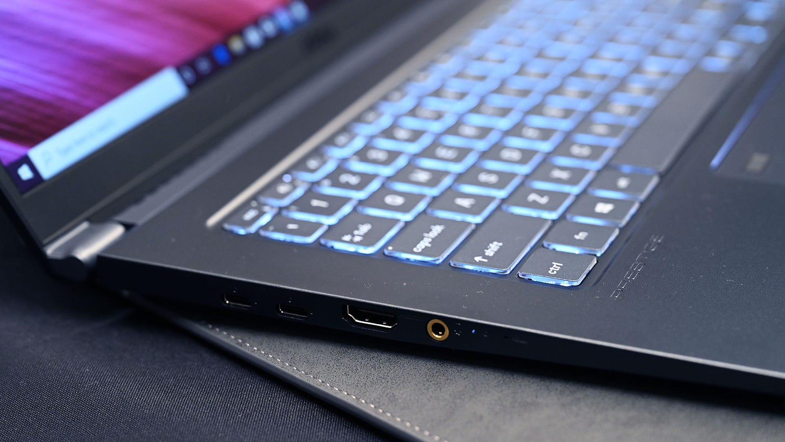 Including a full HDMI out port is a nice addition for on-the-go creatives too.