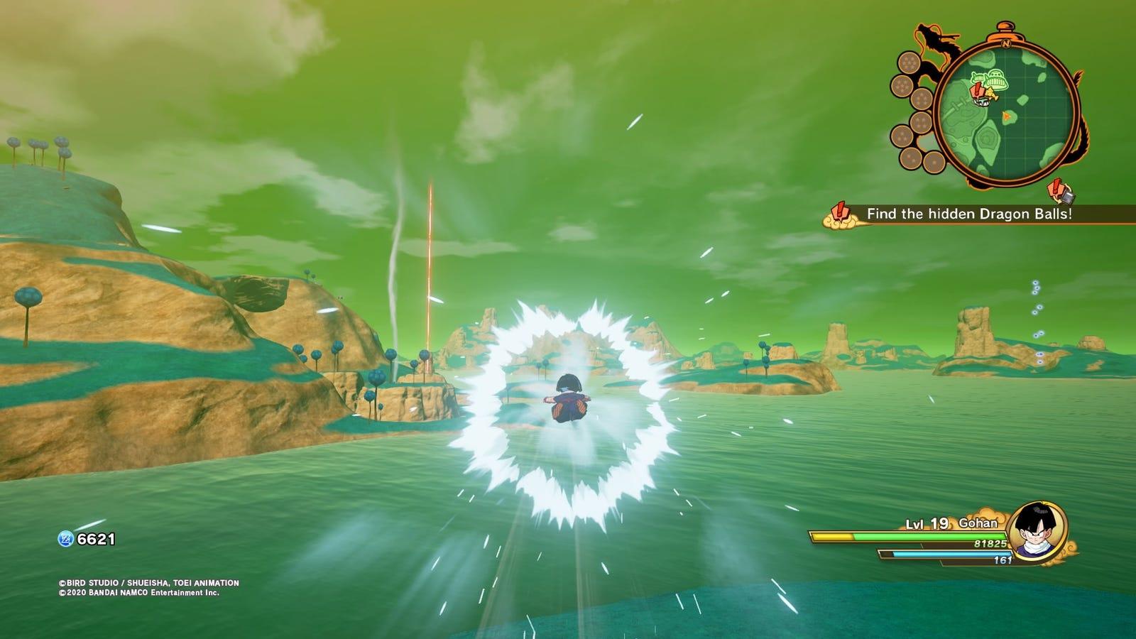 Puedes volar a gran velocidad para recorrer el mapa, o...
