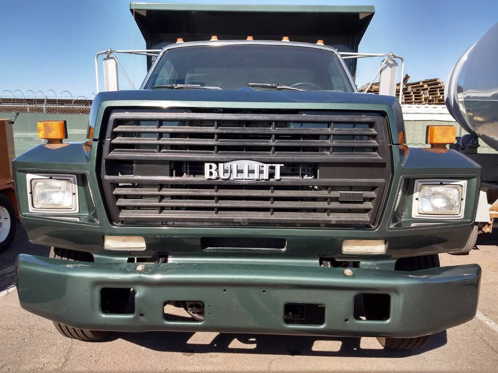 Illustration for article titled Somebody Made A Bullitt Mustang Ford Dump Truck