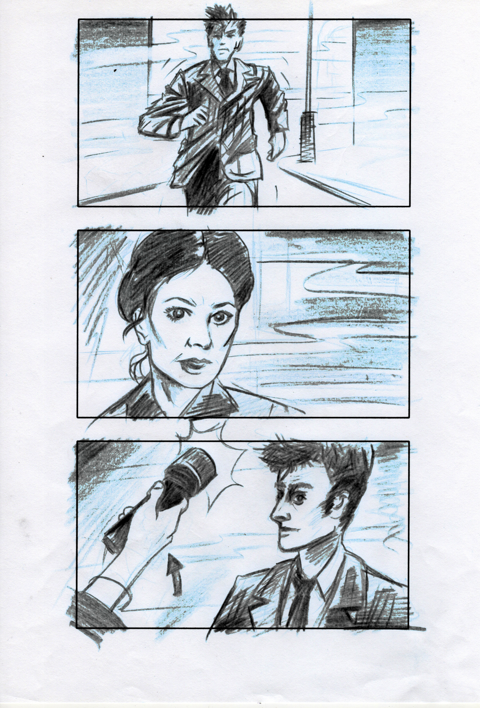 "Storyboards for Roy Gill's ""The Creeping Death"""