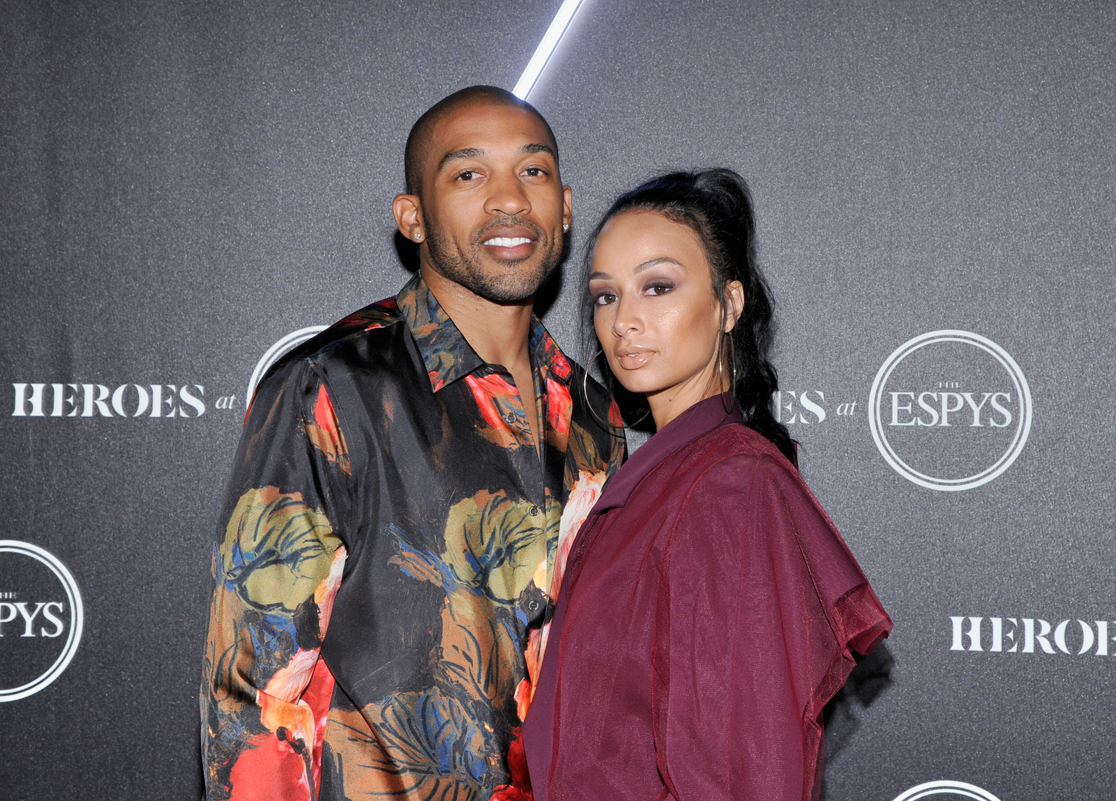 Orlando Scandrick (L) and Draya Michele attend HEROES at The ESPYS at City Market Social House on July 17, 2018 in Los Angeles, California.